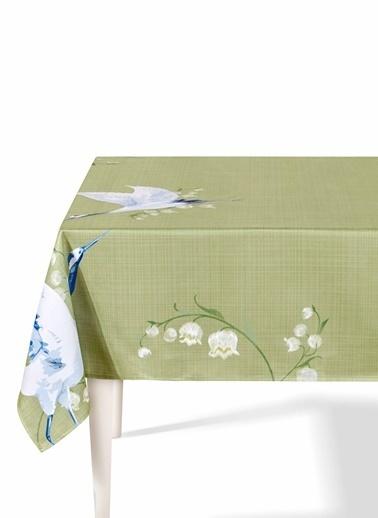The Mia Leylek Masa Örtüsü - 230 x 150 Cm - Yeşil Yeşil